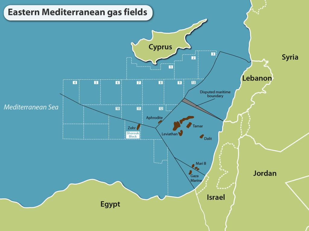 East Med gas fields