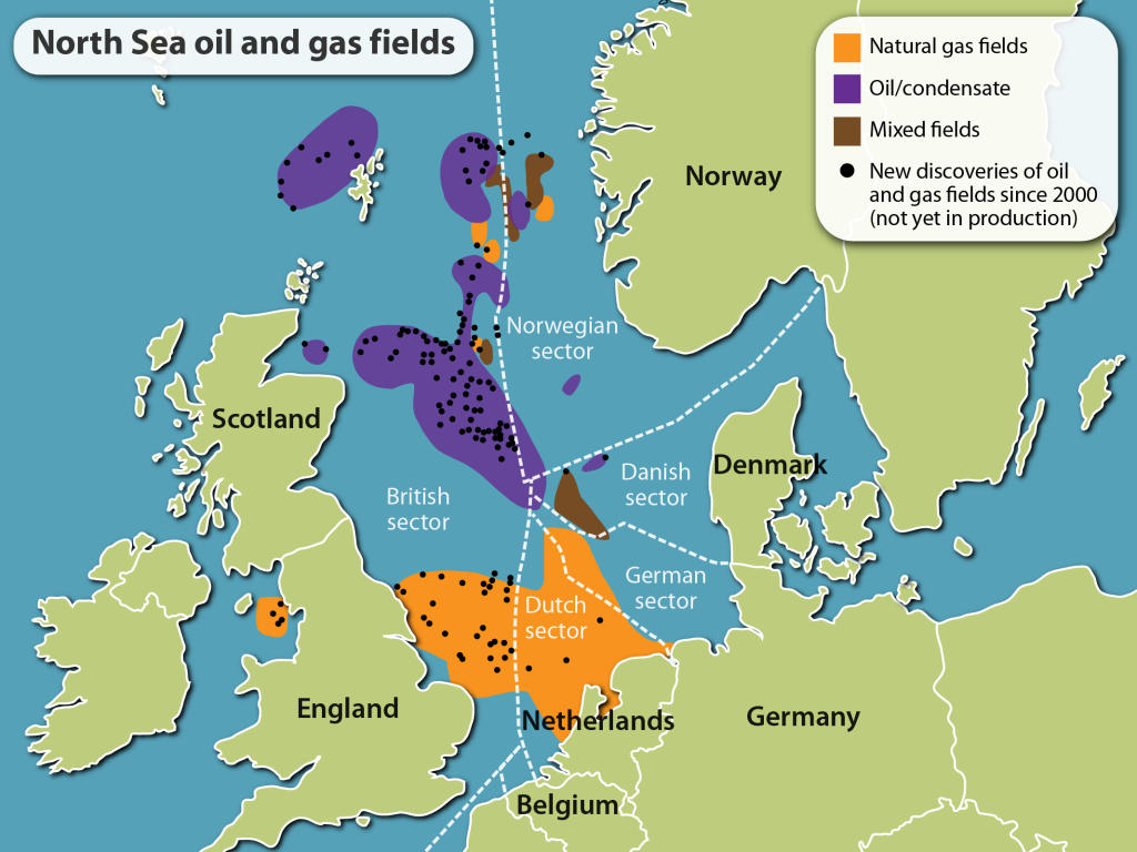 North Sea Oil and Gas Fields